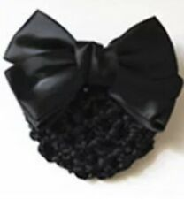 Bow Barrette Lady Hair Clip Cover Bowknot Bun Snood Women Hair Accessories BLACK