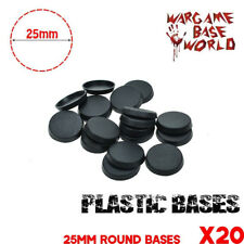 20PCS 25mm Round bases For Gaming Miniatures Plastic Wargames Bases Figures