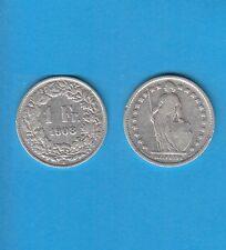 § Suisse Swiss Confédération Helvétique 1 Franc en argent 1908 Exemplaire N° 2