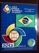 Official World Baseball Classic Patch With Flag of Brazil Patch Authentic 2013