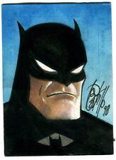 Batman Card Art - 1998 Signed art by Tony Castrillo