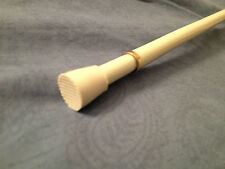 Round Spring Curtain Tension Rod!! Multiple Sizes!! White&Brass!! (2-681-1)