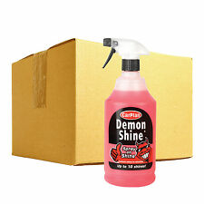 6 x Carplan DEMON SHINE Quick Spray On Wipe Car Polish Wax Paint Wheels Bumper