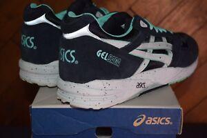DS Asics Gel Saga Black/Mint H137K, Size 13