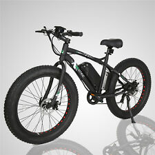 Black Electric Fat Tire Bike Beach Snow Bicycle City E-bike 36V 500W Moped LCD