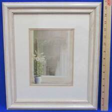 French Serenity By Fabrice De Villeneuve Framed Matted Print Lily Flower