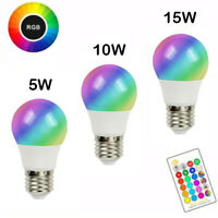 E27 LED Bulb RGBW Lamp Dimmable Light Color Change Spotlight + Remote Controller