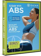 Yoga, Pilates Toning Exercise DVD - 5 Day Fit Abs - 5 Workouts!