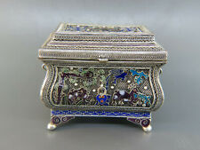 Chinese Silver & Enamel Box Filigree GREAT QUALITY