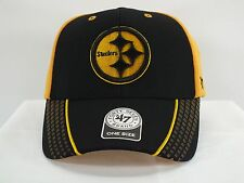 PITTSBURGH STEELERS NFL ADULT ADJ ADHESIVE STRAP NEW HAT CAP BY '47 BRAND A119