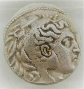 ANCIENT GREEK AR SILVER TETRADRACHM COIN OF ALEXANDER THE GREAT 14.10G