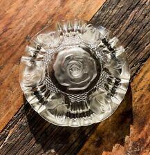 Vintage Crystal Rose Ashtray RICCARDO Japan