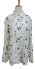 BERNARD ZINS embroidered linen Nico blazer jacket NWT sz 10 L white