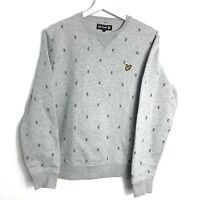Mens Lyle And Scott Grey Sweatshirt Top Size Medium
