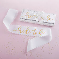 Bride to Be Sash White & Gold from Kate Aspen Bridal Shower or Bachelorette