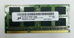 MICRON 1X4GB 4GB PC3L-12800 MT16KTF51264HZ-1G6M1 2Rx8 1600MHz laptop RAM Memory