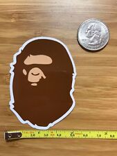 ONE A Bathing Ape Bape Classic Brown Vinyl Sticker Decal Laptop Luggage