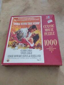 Jigsaw Puzzle - Gone with The Wind - Milton Bradley 1000 Piece 1990 NIB - RARE!