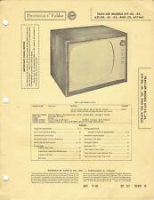 ORIGINAL 1956 Trav-ler TV Model 617-33 + service Manual PHOTOFACT SCHEMATIC /125