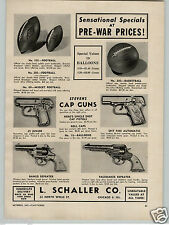 1947 PAPER AD Stevens Toy Cap Gun Guns Bang-O Pacemaker Spit Fire .25 JR Hero's