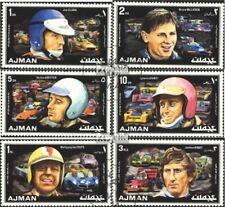 Ajman 1067-1072 (complete issue) used 1971 accident Racing