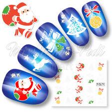 NAIL Art Water Trasferimenti Adesivi decalcomanie Alberi di Natale Renne Babbo Natale k134
