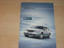 44223) Chrysler Sebring Preise & Extras Prospekt 04/2008