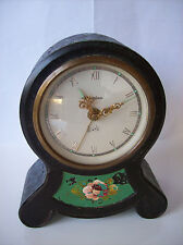 ANTIQUE German 1930's DOMINO SMALL MANTEL METAL CLOCK