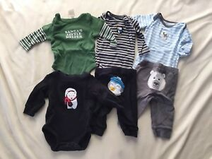 Baby Boys Christmas Outfit and Shirt Carter's Size 3 months 6 piece lot