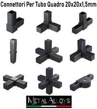 Connettore Connettori in plastica per tubo quadro 20 x 20 x 1,5 mm