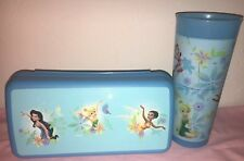 Tinkerbell And Disney Fairies Tupperware Storage Sandwich Container Pencil Box