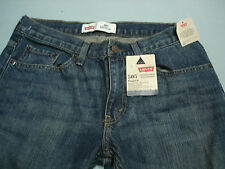 New BOYS LEVIS 505 Relaxed Fit Jeans Blue Denim size  10h 30 x 26 nEW WITH TAGS