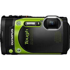 "Olympus TG-870 Tough Waterproof 16MP Green Digital Camera w/ AF Lock &3"" LCD Ref"