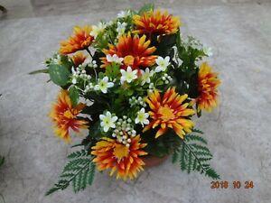 künstliche Blumen  pflanzen  Blumen  Grabgesteck Spiderberry orange
