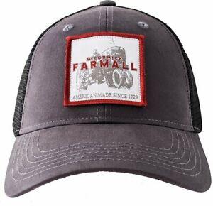 IH FARMALL McCormick *CHARCOAL & BLACK MESH* PATCH LOGO TWILL Hat Cap NEW FA11