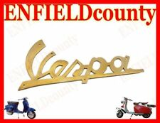 "BRAND NEW VESPA SCOOTER BRASS MADE LEG SHIELD BADGE MOTIF WITH RIVETS 4.5"" @AU"