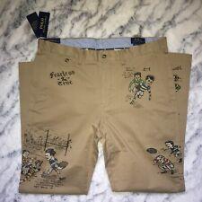 POLO Ralph Lauren khaki rugby pants 36 x 32 tan