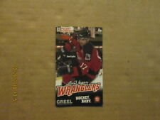 ECHL Las Vegas Wranglers Vintage Defunct Circa 2005-06 Hockey Pocket Schedule