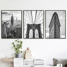 USA New York City Black White Posters and Prints Wall Art Canvas Painting Decor