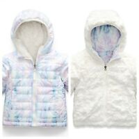 The North Face Infant Reversible Mossbud Swirl Coat Purdy Pink Snowdust 0-3 MO