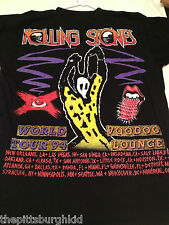RARE NEW ROLLING STONES 1994  VOO DOO LOUNGE CONCERT TOUR T SHIRT LARGE  AWESOME