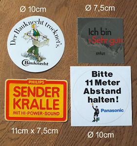 4 X Sticker Aufkleber Hi-Fi Video Philips Panasonic Braun Bauknecht 80er - 90er