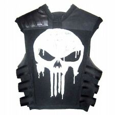 Thomas Jane Punisher Tactical Black Faux Leather Vest - New Arrival