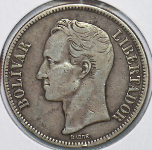 Venezuela 1936 5 Bolivares Horse animal 293976 combine