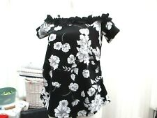"""dorothy perkins"" ladies maternity top sz10 white floral pattern"