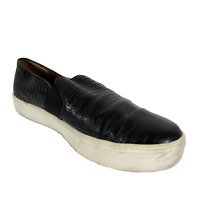 Vince 7 M Womens Shoes Black Leather Loafer Slip Ons