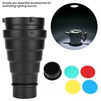 Conical Snoot Honeycomb Grid + 5*Filter for Bowens Mount Strobe Flash Light LJ