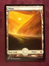 Battle for Zendikar Full Art Land  Plains #250  VO  -  MTG Magic (Mint/NM)