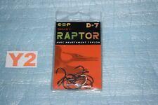 10 Hameçons carpes ESP RAPTOR D-7 taille n°1 neuf