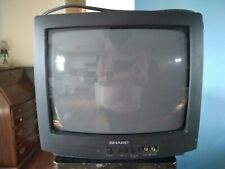 """Sharp 13"""" CRT Color Tube TV 13N-M100 Front A/V Inputs Retro Gaming No Remote"""